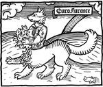 absurd_res canine eurofurence handful hi_res huge mbala plushie solo taur wolf woodblock woodcut