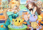 1boy 3girls :3 :d ^_^ aqua_eyes bag bare_shoulders bathtub black_eyes blonde_hair blue_(pokemon) blue_dress blush breasts brown_hair carpet charizard chiko_(mario) closed_eyes closed_mouth collarbone commentary creatures_(company) crown day dress earrings eating eyes_closed f.l.u.d.d. flying_sweatdrops game_freak gen_1_pokemon hair_over_one_eye handbag hands_on_own_cheeks hands_on_own_face hat highres indoors ink inkling ippers jewelry leg_warmers long_hair long_sleeves mario_(series) medium_breasts multiple_girls nintendo nintendogs off-shoulder_dress off_shoulder open_mouth outstretched_arms pokemon pokemon_(creature) pokemon_(game) pokemon_frlg red_eyes rosetta_(mario) shoes shoulder_bag sitting smile soap splatoon_(series) sponge squatting squirtle star sun_hat super_mario_galaxy super_mario_sunshine super_smash_bros. super_smash_bros._ultimate sweat sweatband symbol_commentary tank_top washing when_you_see_it white_footwear white_hat