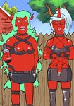 cosplay hank_hill king_of_the_hill kneesocks panty_and_stocking_with_garterbelt peggy_hill scanty