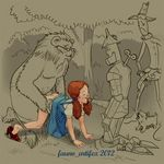 cowardly_lion dorothy_gale fauno_artifex scarecrow tin_man wizard_of_oz