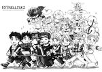 1girl 6+boys ball_breaker_(stand) battle_tendency braid bud_(korovsme) chain chains chibi cleavage_cutout crazy_diamond daughter diamond_is_not_crash double_bun family father fingerless_gloves flower formal giorno_giovanna gloves gold_experience grandchild grandfather graphite_(medium) gyro_zeppeli hat higashikata_jousuke higashikata_jousuke_(jojolion) johnny_joestar jojo_no_kimyou_na_bouken jojolion jonathan_joestar joseph_joestar_(young) kuujou_jolyne kuujou_joutarou monochrome multiple_boys nephew peaked_cap phantom_blood pompadour ribbon rose scarf school_uniform soft_&_wet soft_&_wet_(stand) son stand_(jojo) star_platinum stardust_crusaders steel_ball_run stone_free stone_ocean string suit traditional_media tusk_(stand) uncle vento_aureo young younger