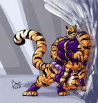 boo3 breasts bulge feline hyper intersex mammal multi_arm multi_breast multi_limb multi_penis multifur muscular penis superhero the_stripe tiger
