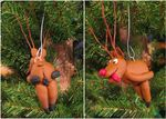 balls bent_over cervine christmas christmas_tree clay feces feral holidays hooves horn humor mammal not_furry ornament penis photo presenting reindeer rudolph scat sculpture tongue tongue_out tree