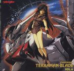 90s artist_request d-boy highres kisaragi_aki mecha scan space tekkaman_blade