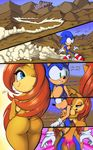 2014 anthro big_breasts breasts butt comic dialog english_text female grope huge_breasts male nude sally_acorn sega side_boob sonic_(series) sonic_the_hedgehog text thefuckingdevil