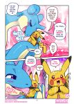 <3 2019 animal_genitalia black_fur blue_skin blush comic dialogue duo english_text erection eyes_closed female feral feral_on_feral fur insomniacovrlrd lapras licking male male/female nintendo open_mouth oral penis penis_lick pikachu pink_penis pokémon pokémon_(species) saliva sex size_difference tan_skin tapering_penis text tongue tongue_out video_games yellow_fur