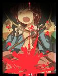 1girl blood blood_splatter convenient_censoring gaoo_(frpjx283) highres komeiji_satori rape restrained screaming solo_focus tears third_eye torn_clothes touhou