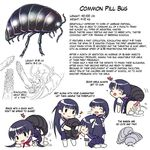 artist_request bestiality black_hair blush copyright_request cum cum_in_pussy heart insect multiple_girls musical_note penis pillbug school_uniform sex skirt tears translated twintails