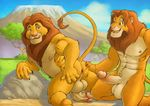 abs anthro anthrofied anus balls butt cartoon disney duo erection father father_and_son feline furryrevolution gay incest lion male mammal mufasa muscles nipples overweight parent pecs penis presenting presenting_hindquarters sex simba son the_lion_king vein