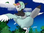 avian bird clothing female kakuheiki nintendo pokémon tranquill video_games