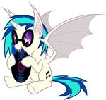 2014 absurd_res alpha_channel bat_pony equine female feral friendship_is_magic hi_res horn horse magister39 mammal my_little_pony solo vinyl_scratch_(mlp) winged_unicorn wings