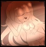 anthro berry_the_dog breasts clothing eyes_closed fan_character female hair hearlesssoul long_hair lying nipples open_mouth panties pussy raised_shirt sleeping solo sonic_(series) underwear