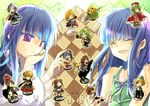 3boys 6+girls beatrice blonde_hair blue_eyes blue_hair board_game brown_hair cape chess chibi closed_eyes company_connection creator_connection crossover dlanor_a_knox dress eyes_closed formal frederica_bernkastel furude_rika furudo_erika green_eyes green_hair hat hibiki_mio higurashi_no_naku_koro_ni houjou_satoko houjou_satoshi long_hair maebara_keiichi multiple_boys multiple_girls ponytail purple_eyes purple_hair red_hair redhead ryuuguu_rena sakutarou short_hair siblings sisters sonozaki_mion sonozaki_shion thighhighs twins twintails umineko_no_naku_koro_ni ushiromiya_ange ushiromiya_battler ushiromiya_maria violet_eyes yellow_eyes