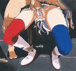 1girl commentary_request idolmaster idolmaster_movie long_hair lostunicorn marker_(medium) panties panties_aside penis pubic_hair rape shijou_takane silver_hair sleep_molestation testicles thighhighs traditional_media uncensored underwear