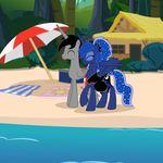 (artist)20thx5150 2015 cutie_mark duo equine female friendship_is_magic horn male male/female mammal my_little_pony pregnant princess_luna_(mlp) winged_unicorn wings