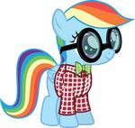 2015 absurd_res alpha_channel cute equine eyewear feral friendship_is_magic glasses hi_res magister39 mammal my_little_pony pegasus rainbow_dash_(mlp) solo wings young