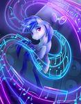 2015 blue_hair cutie_mark equine female friendship_is_magic glowing hair horn levitation magic mammal musical_note my_little_pony purple_eyes solo sparkles speakers unicorn vinyl_scratch_(mlp) viwrastupr