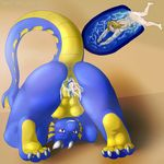 anthro anus bartucthebloody blush breasts butt cum dragon feet female human insertion internal interspecies juice macro male male/female mammal micro nipples nude paws penetration pussy scalie simple_background size_difference spread_legs spreading unbirthing under_boob vore