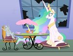 2015 absurd_res discord_(mlp) equine female feral friendship_is_magic hi_res horn insane magister39 male mammal my_little_pony princess_celestia_(mlp) winged_unicorn wings
