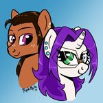 dioponi duo earth equine fan_character female headshot horn horse kyokimute kyoponi male mammal my_little_pony ocpony pony unicorn