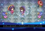 2girls :d absurdres alternate_costume black_hair blue_eyes braid brown_eyes calendar carnelian chibi flower frog hair_flaps hair_ornament hair_ribbon hairband highres holding huge_filesize hydrangea kantai_collection long_hair looking_at_viewer low_twintails multiple_girls open_mouth oriental_umbrella outstretched_arms purple_hair raincoat remodel_(kantai_collection) ribbon ryuuhou_(kantai_collection) shigure_(kantai_collection) single_braid smile snail spread_arms taigei_(kantai_collection) twintails umbrella