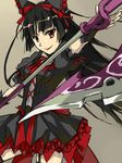 black_hair colored gate_-_jieitai_ka_no_chi_nite_kaku_tatakaeri hair_ribbon highres long_hair red_eyes ribbon rory_mercury smile