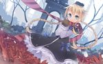 blonde_hair blue_eyes blush braids dress flowers fred04142 gloves hat long_hair magi_in_wanchin_basilica ribbons scarf snow winter xiao_ma