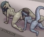 2015 all_fours amon_(atrolux) anal anal_penetration anthro anus atrolux backsack balls black_sclera blindfold blue_hair breasts brown_hair brown_scales butt collar dickgirl dickgirl/male dickgirl_domination duo erection fangs forked_tongue grey_scales hair incest intersex intersex/male kyra leash long_hair looking_back male mother mother_and_son nude open_mouth oral parent penetration penis plantigrade raised_tail rattlesnake reptile rimming saliva scales scalie sex sharp_teeth snake son tail_sex teeth tongue tongue_out yellow_eyes