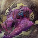 2014 alien animal_humanoid beast_wars cybertronian digital_media_(artwork) dinosaur humanoid living_machine machine megatron_(beast_wars) open_mouth predacon red_eyes reptile robot scalie simple_background solo teeth theropod transformers tyrannosaurid tyrannosaurus tyrannosaurus_rex x1000mg