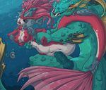 aquatic_dragon big_breasts blue_eyes breasts cum cum_in_pussy cum_inside dragon duo erection female fin forced fuf male male/female marine merfolk nipples open_mouth penetration penis pussy rape sex size_difference underwater underwater_sex vaginal vaginal_penetration water wet