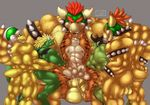 abs anal anal_penetration animal_genitalia anthro armlet armor armpits army balls bdsm beak belly biceps big_balls big_penis black_hair blonde_hair blue_eyes body_hair bottomless bowser bowser_jr. bracelet butt chest_hair claws clenched_teeth clothed clothing collar cum cum_inside danandnite dragon erection father gangbang green_eyes grin grope group group_sex hair hammer_bro hand_on_chest hand_on_head hand_on_shoulder helmet hi_res huge_penis humanoid_penis jewelry koopa licking male male/male mario_bros markings muscular muscular_male nintendo nipples nude orgasm parent pecs penetration penis red_eyes red_hair reptile scalie sex simple_background size_difference smaller_male smile son spiked_armlet spiked_bracelet spiked_collar standing symbol teeth thick_penis tongue tongue_out topless turtle vein veiny_penis video_games