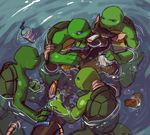 anthro bathing brothers donatello_(tmnt) erection father father_and_son group interspecies leonardo_(tmnt) male male/male mammal michelangelo_(tmnt) parent penis raphael_(tmnt) rat reptile rodent scalie sibling sneefee son splinter teenage_mutant_ninja_turtles turtle water