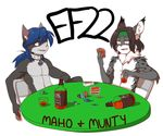 2016 9aia alcohol badge beverage cat door ef22 eurofurence feline lynx maho-gato male mammal munty poker table