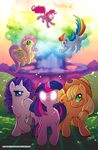 applejack_(mlp) blonde_hair blue_eyes blue_fur cloud cutie_mark day earth_pony equine explosion female feral fluttershy_(mlp) flying freckles friendship_is_magic fur glowing glowing_eyes grass green_eyes hair hat horn horse invalid_tag long_hair looking_at_viewer mammal multicolored_hair mushroom_cloud my_little_pony nude open_mouth orange_fur outside pegasus pink_eyes pink_fur pink_hair pinkie_pie_(mlp) pony purple_fur purple_hair rainbow_dash_(mlp) rainbow_hair rarity_(mlp) sky smile teal_eyes the_mane_six twilight_sparkle_(mlp) unicorn white_fur wings yellow_fur zimmay