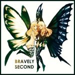 2girls aerie_(bravely_default) anne_(bravely_second) antenna_hair artist_request bare_shoulders black_gloves black_legwear black_leotard blonde_hair bravely_default:_flying_fairy bravely_default_(series) bravely_second:_end_layer brown_eyes butterfly_wings copyright_name dress elbow_gloves fairy fairy_wings from_side gloves hand_holding legs_up leotard long_hair looking_at_viewer multiple_girls pointy_ears short_dress short_hair simple_background sketch smile source_request strapless strapless_dress thighhighs white_background white_dress wings