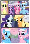 2017 absurd_res applejack_(mlp) bandage bedroom_eyes blonde_hair blue_body blue_eyes blue_feathers blue_fur blue_hair clothing collar comic cutie_mark dialogue earth_pony english_text equine eyeshadow feathered_wings feathers female feral fluttershy_(mlp) friendship_is_magic fur green_eyes group hair half-closed_eyes headband hi_res horn horse inside makeup mammal multicolored_hair my_little_pony open_mouth orange_body pegasus pink_body pink_hair pinkie_pie_(mlp)rarity_(mlp) pony purple_eyes purple_fur purple_hair pyruvate rainbow_dash_(mlp) rainbow_hair seductive smile spa text twilight_sparkle_(mlp) two_tone_hair unicorn uniform white_body white_fur white_skin wings yellow_body yellow_skin