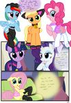 2017 absurd_res applejack_(mlp) apron blonde_hair blue_body blue_eyes blue_feathers blue_fur blue_hair blush bottomless bow butt clothed clothing collar comic cosplay cutie_mark dialogue earth_pony english_text equine eyeshadow feathered_wings feathers female feral fluttershy_(mlp) footwear friendship_is_magic fur green_eyes group hair headdress hi_res horn horse inside maid_uniform makeup mammal multicolored_hair my_little_pony open_mouth orange_body pegasus pink_body pink_hair pinkie_pie_(mlp) police_uniform pony purple_eyes purple_fur purple_hair pyruvate rainbow_dash_(mlp) rainbow_hair rarity_(mlp) school_uniform smile sofa spa striptease teasing text translucent twilight_sparkle_(mlp) two_tone_hair unicorn uniform white_body white_fur white_skin wings yellow_body yellow_skin