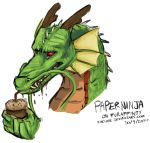 2014 claws dragon eastern_dragon frill horn paperninja red_eyes scalie solo whiskers