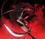 akame akame_ga_kill! long_hair murasame red_eyes solo sword tashiro_tetsuya weapon