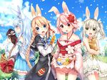 animal_ears bunny_ears duji_amo kuuki_shoujo magi_in_wanchin_basilica rice_simon sergestid_shrimp the_personification_of_atmosphere xiao_ma xuan_ying