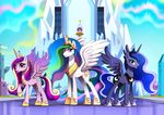 2017 crystal_empire equine female friendship_is_magic group horn mammal my_little_pony one_eye_closed princess_cadance_(mlp) princess_celestia_(mlp) princess_luna_(mlp) ruhje tongue tongue_out winged_unicorn wings wink