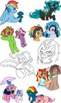 changeling chocolate_cheesecake coatl-dragon draconequus earth_pony epic_rhyme equine fan_character feral flurry_heart_(mlp) friendship_is_magic green_tea hazy_sky horn horse hybrid jolliapplegirl magic magic_grip mammal my_little_pony parfait_(jolliapplegirl) pegasus pony pouting rainbow_dash_(mlp) serenade_(chopin) simple_background skyla_(jolliapplegirl) sleeping sweet_deal tranquil_spring unicorn wings witches_brew