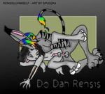 2004 anal bone hair male male/male multicolored_hair rainbow_hair rensis spug tongue undead zombie