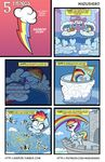 2017 arthropod avian beak cloud comic duo english_text equine feathered_wings feathers female feral flying friendship_is_magic gilda_(mlp) gryphon hair hi_res insect magazine mammal multicolored_hair multicolored_tail my_little_pony pegasus rainbow_dash_(mlp) rainbow_hair rainbow_tail sky text wadusher0 wasp wings yellow_beak young