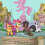 apple_bloom_(mlp) bitterplaguerat blue_eyes dialogue earth_pony english_text equine fan_character friendship_is_magic green_eyes horn horse loki_(bitterplaguerat) mammal my_little_pony pegasus pony scootaloo_(mlp) sweetie_belle_(mlp) text unicorn wings yellow_eyes
