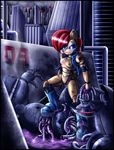 anthro female machine robot sally_acorn solo sonic_(series) zeiram0034