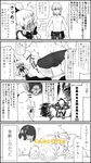 1boy 3girls 4koma anger_vein angry ass back belt bike_shorts bird chest chicken comic covering_face dimples_of_venus electrocution embarrassed flying_sweatdrops game_over greyscale hands_on_own_face highres kneeling link looking_at_another male_focus mipha monochrome multiple_girls ohshioyou paya_(zelda) pout pulled_by_self shorts shorts_pull skeleton spot_color standing the_legend_of_zelda the_legend_of_zelda:_breath_of_the_wild thunder toned toned_male topless translation_request underwear undressing urbosa