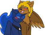equine feral horn horse jolliapplegirl mammal my_little_pony pony princess_luna_(mlp) sphinx tagme winged_unicorn wings
