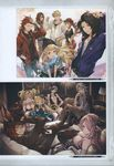 6+boys 6+girls ;) absurdres alternate_costume aqua_eyes bare_shoulders baseball_cap beanie between_breasts black_hair blonde_hair blue_eyes braid breasts brown_hair bubble_blowing cagliostro_(granblue_fantasy) card casual chewing_gum clarisse_(granblue_fantasy) cleavage collarbone contemporary couch crown_braid doraf dress elbow_gloves erun_(granblue_fantasy) eyepatch fishnet_pantyhose fishnets glasses gloves granblue_fantasy grin hand_in_hair hands_in_pockets harbin hat high_heels highres hood hoodie horns jewelry lancelot_(granblue_fantasy) large_breasts legs_crossed long_hair minaba_hideo multiple_boys multiple_girls narumeia_(granblue_fantasy) necktie official_art one_eye_closed orange_hair pants pantyhose parted_lips percival_(granblue_fantasy) pink_hair ponytail red_eyes red_hair scan siegfried_(granblue_fantasy) sitting smile tania_(granblue_fantasy) vane_(granblue_fantasy) zeta_(granblue_fantasy)