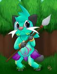 anthro charmandrigo cub dewott male mammal mustelid nintendo pokémon solo video_games young